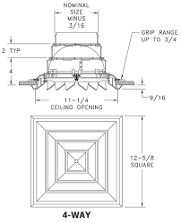 Floorregisters N Vents by Rz Square Rezzin Square Ceiling Diffuser Integral Butterfly