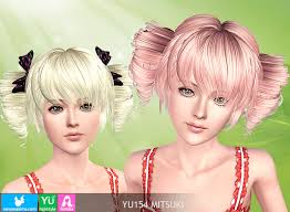 the sims 4 cc hair ponytail hairstyle donate newsea