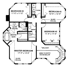 second floor plan of country farmhouse victorian house plan 86939
