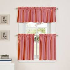 Ladybug Kitchen Curtains by Buy Coral Kitchen Curtains With Tier From Bed Bath U0026 Beyond