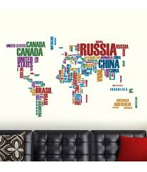 world map with country names image stickerskart wall stickers world map with country names 6981 buy