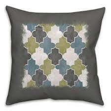 Grey Decorative Pillows Buy Green Grey Throw Pillows From Bed Bath U0026 Beyond