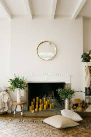 Unused Fireplace Ideas Decorating Fireplaces With Candles Mix And Match Height Of Both