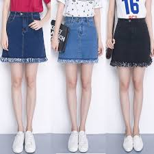 denim skirt elastic waist plus size denim skirt high waist mini skirt summer