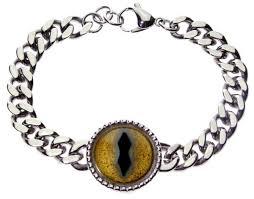 dragon bracelet gold images Men 39 s gold dragon eye cable chain bracelet jpg