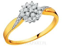 apart pierscionki zareczynowe pierścionki zaręczynowe apart z żółtego złota ślub i wesele