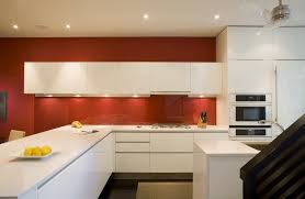 Stained Glass Backsplash by Lovely Recycled Glass Backsplash With Dark Stained Floor Red