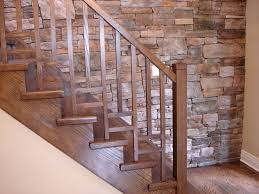 Brick Stairs Design Decorations Traditional Wood Staircase Ideas With Varnished