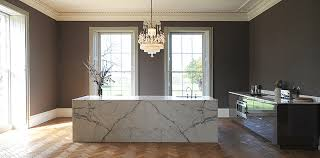 marble island kitchen large marble island in statuary marble contemporary kitchen