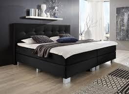 Komplett Schlafzimmer Mit Boxspringbett Napco Boxspringbett Schwarz Modell Allround Möbel Letz Ihr