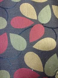 fabric sale multicolored teardrop leaf upholstery fabric