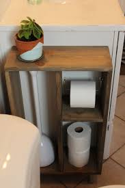 hide unsightly toilet items with this diy side vanity storage unit