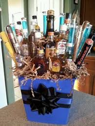 Man Gift Basket Man Bouquet Made Of Mini Liquor Bottles Gift Ideas Pinterest