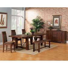 Material For Dining Room Chairs Alpine Furniture Pierre Dining Table Antique Cappuccino Hayneedle