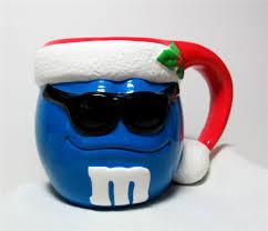 Cool Cup Cool Blue M U0026m Red Stocking Cap White Fur Christmas Mug Cup
