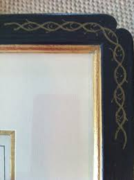 finely frugal scalamandre fabric and fred reed antique french the splurge hand painted frames with high quality mats and gold leaf inserts from fred reed picture framing in atlanta look at the detail of the hand