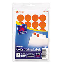 2 X 4 Label Template 10 Per Sheet Color Coding Labels At Office Depot Officemax