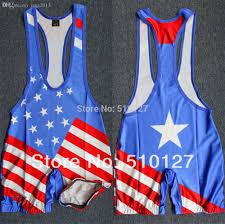 Custom Team Flags Discount Wholesale American Flag Team Wrestling Singlet