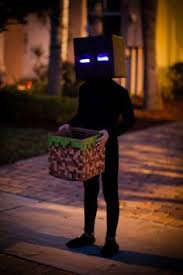 Minecraft Enderman Halloween Costume Glowing Enderman Costume Imgur Halloween Crafts Diy Decor
