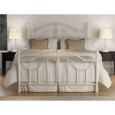 glassport antique white metal bed queen queen bed frames