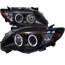 2010 toyota corolla brake light bulb toyota corolla 2009 2010 black dual halo projector headlights with