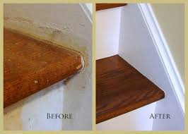 Refinished Hardwood Floors Before And After Pictures by Custom Comforts Project 2 Refinishing The Stairs