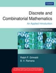 discrete and combinatorial mathematics 5th edition buy discrete