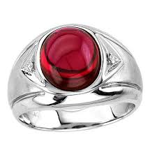 ruby sterling rings images Men 39 s oval cabochon ruby ring in sterling silver mens jewelry jpg