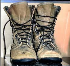 these boots were worn by a soldier in the viet nam war