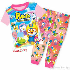 wholesale baby boys pororo clothing set pajamas