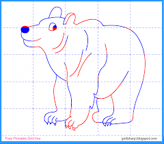 coloring pages printable kids drawing bear pictures kids