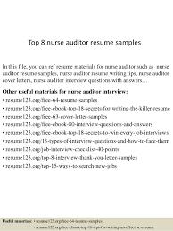Sample Resume For Nursing by Top 8 Nurse Auditor Resume Samples 1 638 Jpg Cb U003d1432789817