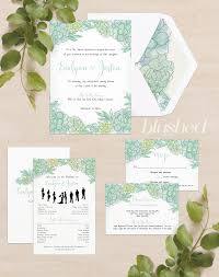 succulent wedding invitations crouch blushed design desert succulent wedding stationery