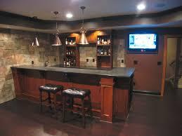 custom basement bar with stone veneer on the walls bars and wet