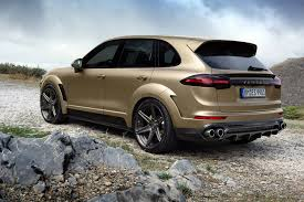 porsche suv blacked out porsche cayenne turbo gets topcar vantage treatment in gold