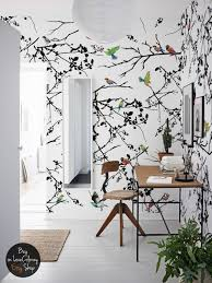bird wall mural removable wallpaper peel and stick bird