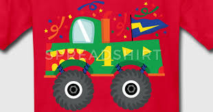 4th birthday monster truck shirt spreadshirt
