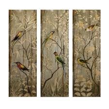 Forest Home Decor by Home Decorators Collection 42 In H Calima Bird Wall Decor Set Of