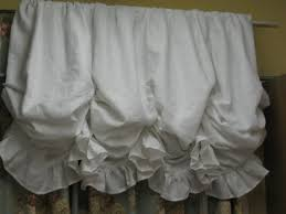 White Balloon Curtains White Linen Ruffled Balloon Shades Functional Shades Made In A