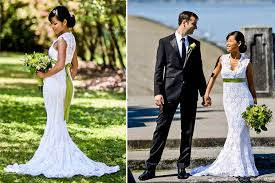 cheap wedding dress thrifty bride made her own budget gown on the