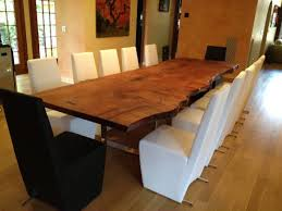 custom made dining room tables custom redwood slab table dining room new york custom custom made