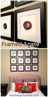 horchow home decor framed agate wall decor you can diy these horchow inspired frames