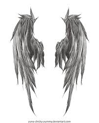 angel wings should it happen they shall appear to be