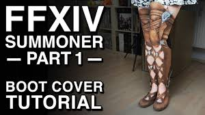 halloween boot covers boot cover tutorial ffxiv summoner cosplay part 1 youtube