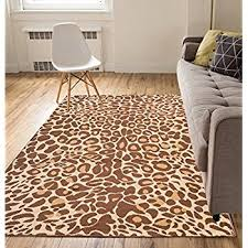 Zebra Print Area Rug 8x10 Well Woven Dulcet Leopard Black Ivory Animal Print