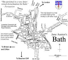 map uk bath important places in pride and prejudice and austen s