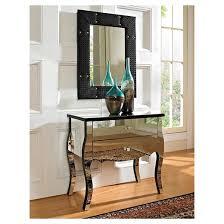 Oak Console Table With Drawers Juliet Mirror 2 Drawer Console Oak Grove Collection Target