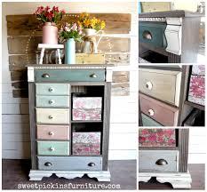 floral wood tutorial u2013 using napkins sweet pickins furniture