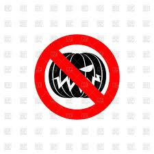 stop halloween sign red forbidden sign with pumpkin vector