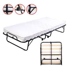 Folding Bed With Mattress Costway Folding Bed Foam Mattress Roll Away Guest Portable
